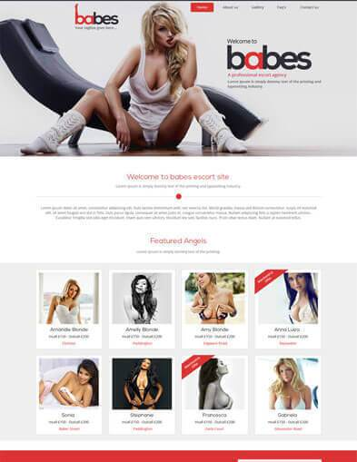 escort agency webdesign